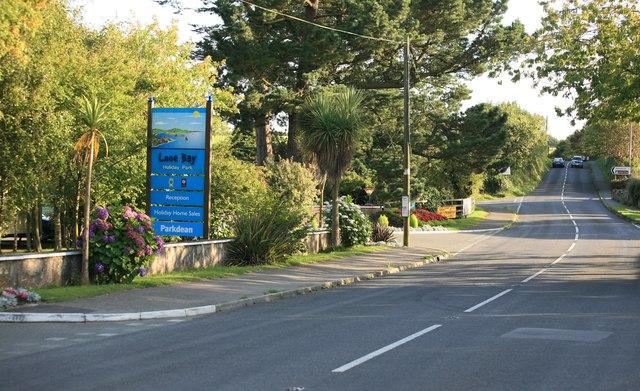 Looe Bay Holiday Camp on the Looe Road