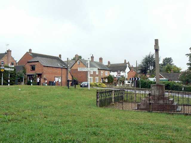 Great Dalby, the green at Upper End