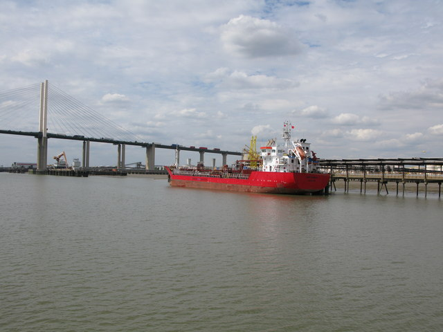 The tanker NST Amalia moored off the Vopak storage site