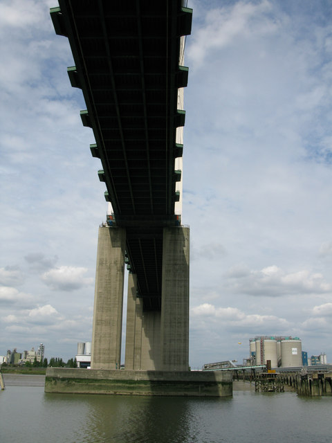 The Queen Elizabeth Bridge from underneath