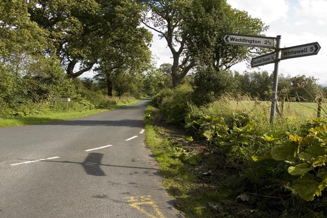 Road junction near Bashall Eaves
