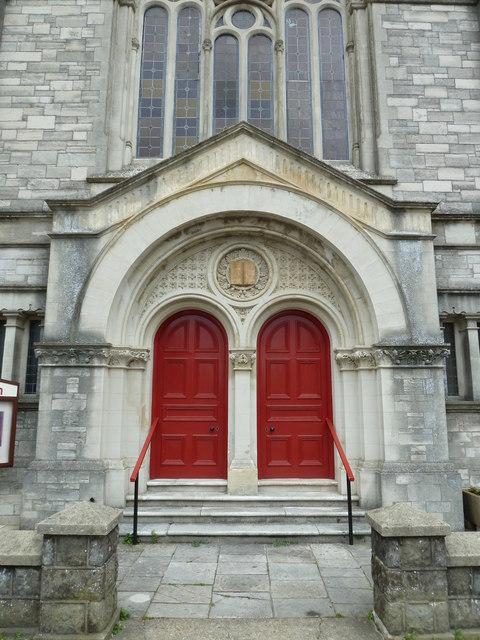 Church doorway in Garfield Road