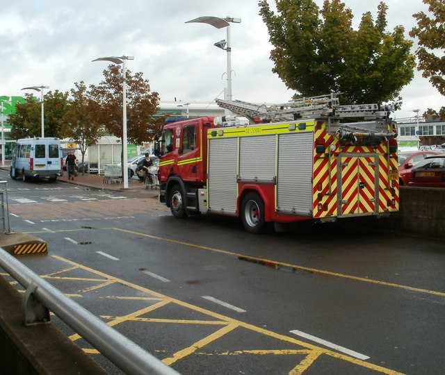Welsh side of a fire engine, Cwmbran
