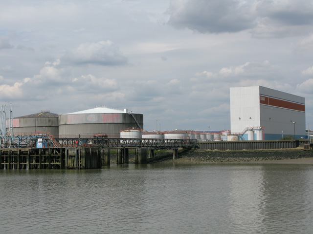 The Esso terminal at Purfleet