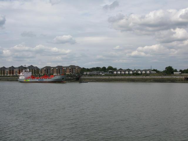 The Yara Gas 1 at Harrisons Wharf, Purfleet
