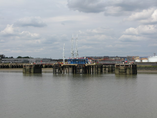 Jetty at Purfleet from the MV Balmoral