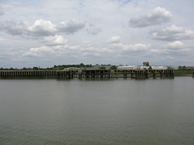 One of the larger jetties at Purfleet