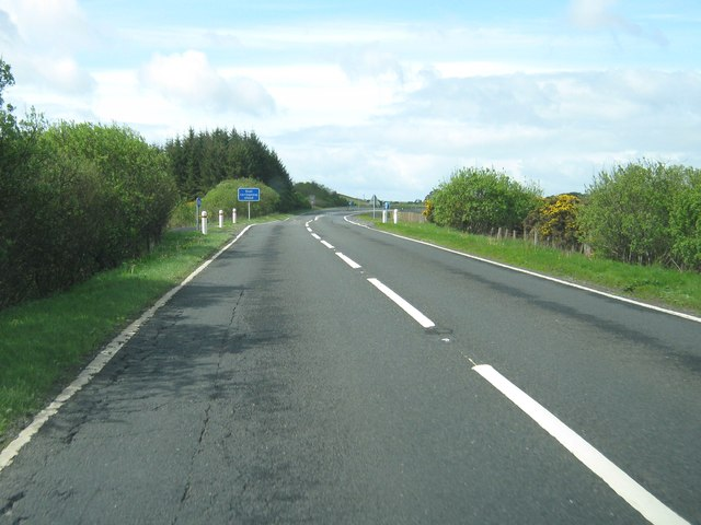 Approaching a dual carriageway on the A75