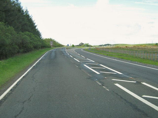 The beginning of a dual carriageway on the A75