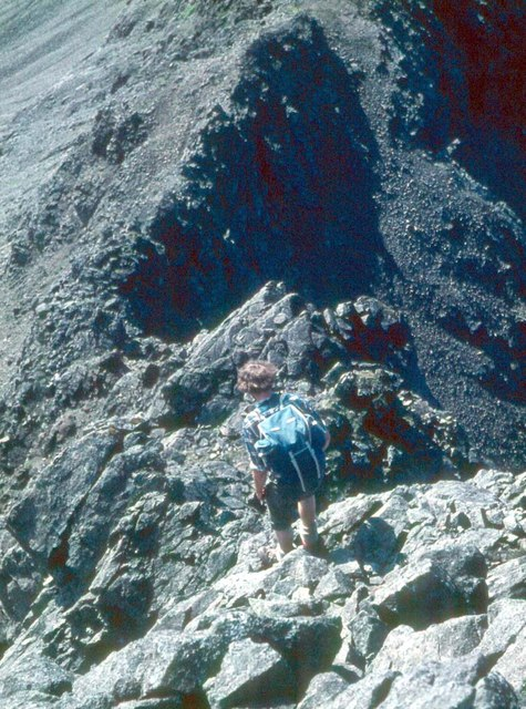 Descent to Sgurr Thuilm