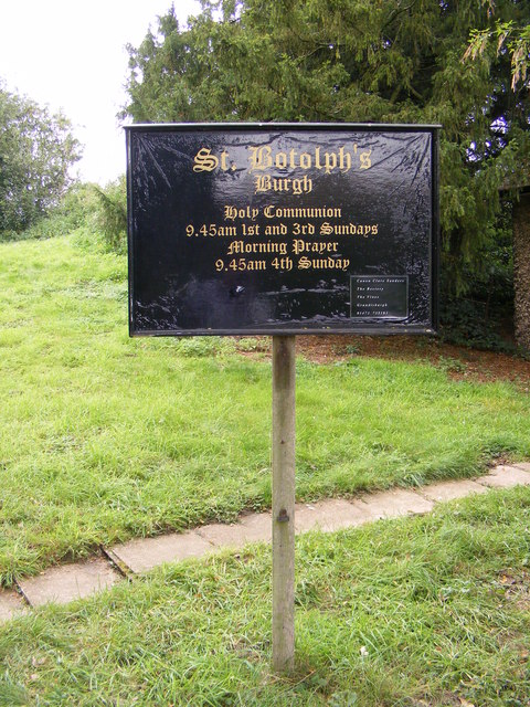 St.Botolph's Church, Burgh sign