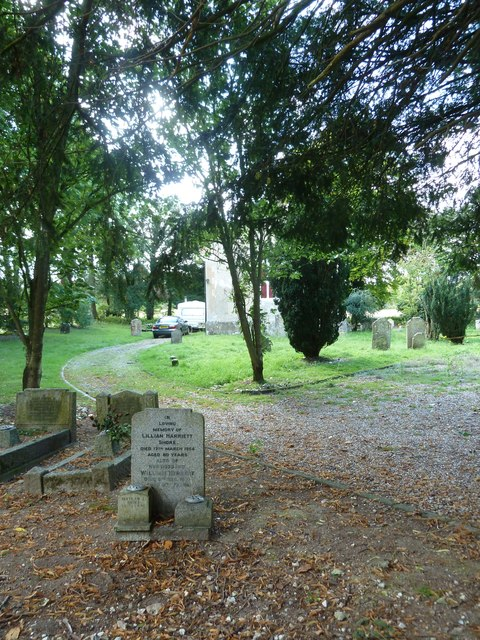 Graves outside the former church at Winslade