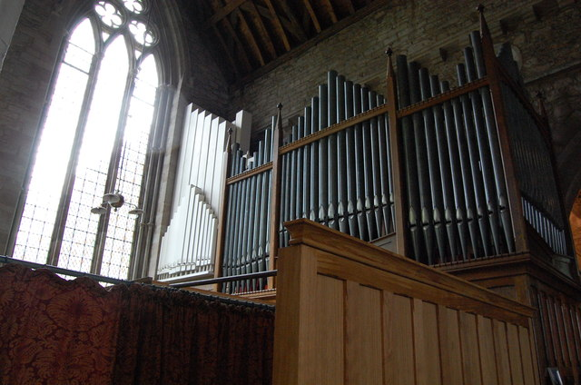 Organ Pipes in Ledbury Church