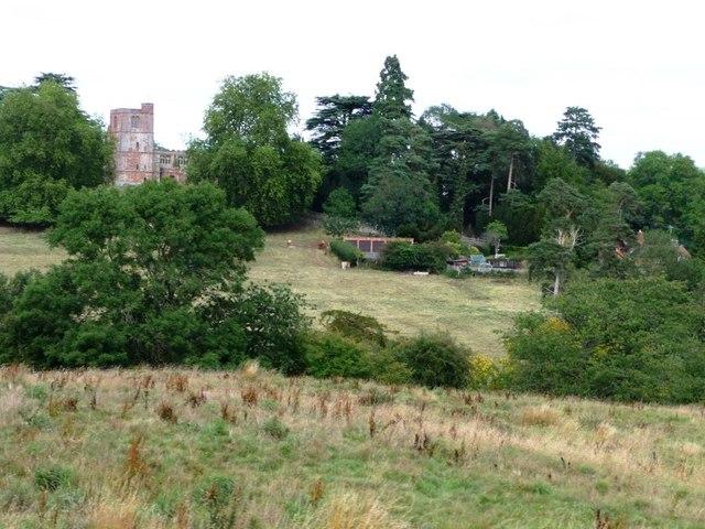 Arley Church and fields below