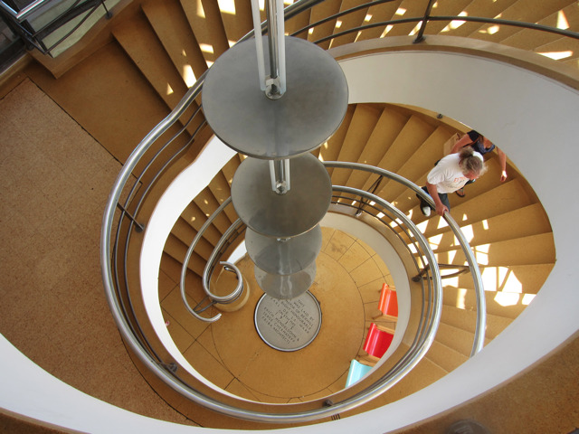 Spiral staircase at the De La Warr Pavilion