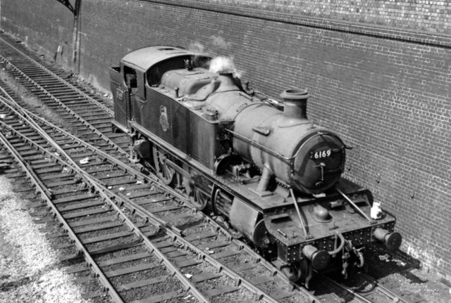 A '6100' 2-6-2T coming off Old Oak Common Depot
