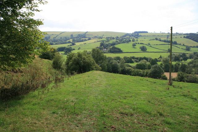 Offa's Dyke path near Newcastle