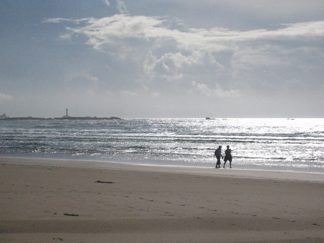 Sennen beach at low tide