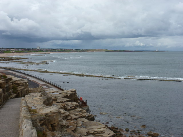 Whitley Bay: view across the bay