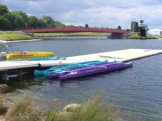 Canoes at Dorney Lake