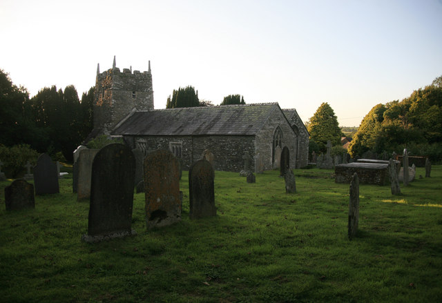 End of the day sunset ST Erney church
