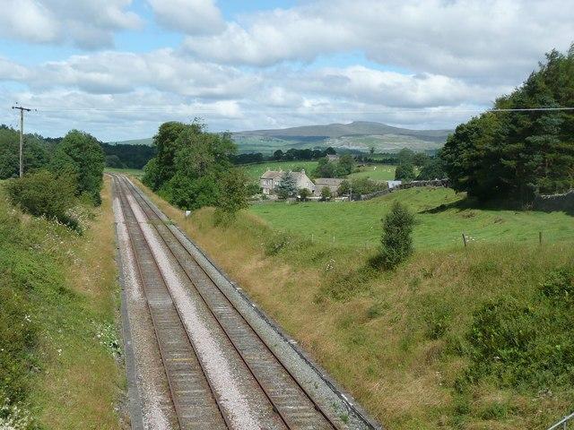 The railway past Armitstead, Giggleswick