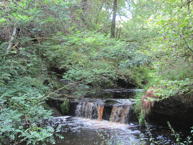 Waterfall on West Dipton Burn