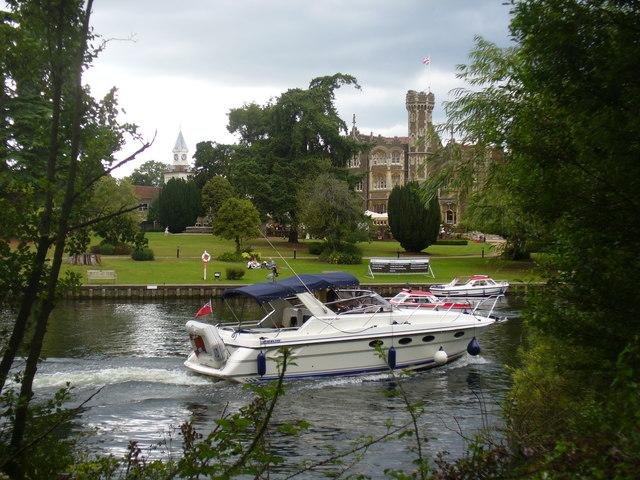 Boat by Oakley Court Hotel