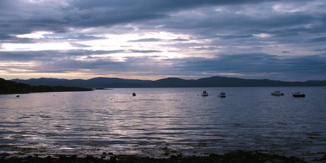 Boats in Carsaig Bay