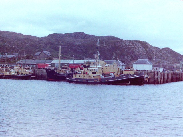 Kyle of Lochalsh Station and Pier, 1981