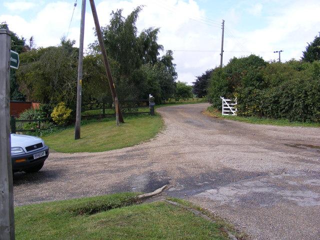 Bridleway to Redisham Road & Entrance to Church Farm