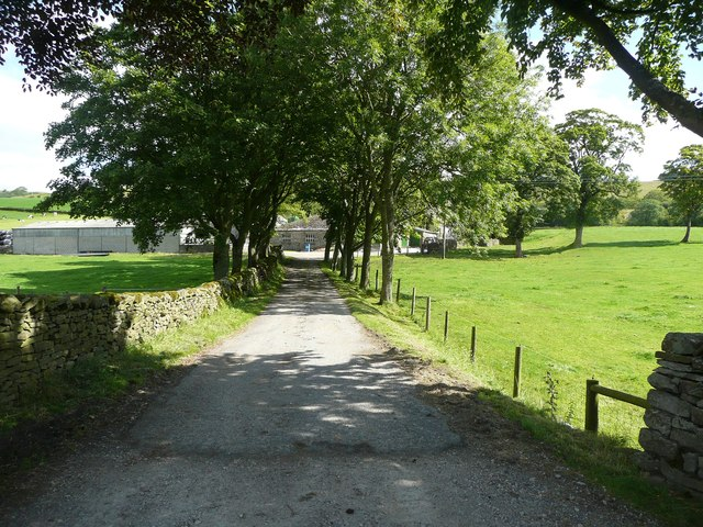 The driveway to Lane End House, Lawkland