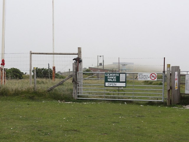 Entrance to Lulworth Ranges on Bindon Hill