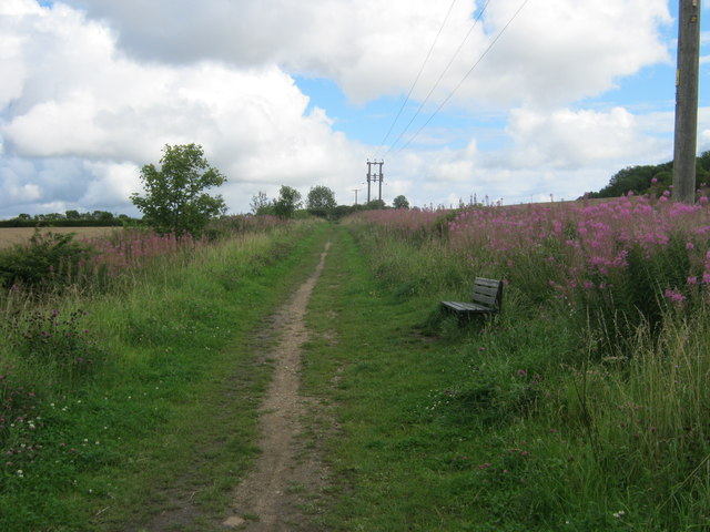 Footpath on line of former mineral railway