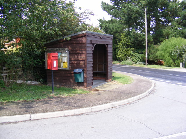 Highfields Postbox & Bus Shelter