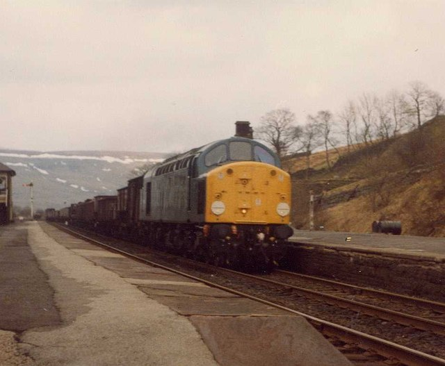 Southbound Freight Train at Garsdale, 1979