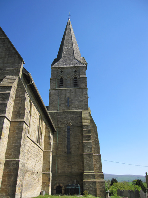 The tower and spire of All Saints' church