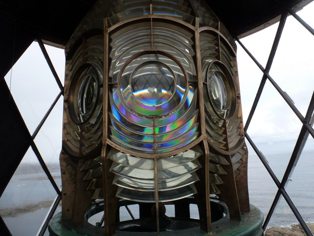 Whitley Bay: the light in St. Mary's lighthouse