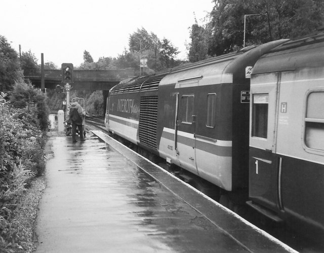 Wet Day at St Austell Station, 1988