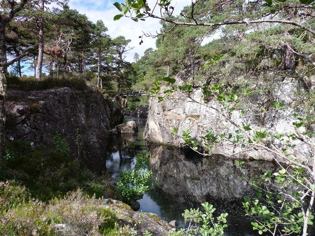 The gorge at Polcherian Bridge, Glen Strathfarrar