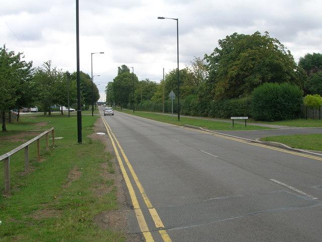 Road towards Robin Hood Airport