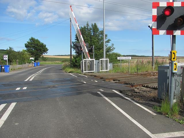 Level crossing, Belford Junction