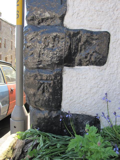 Bench mark on Burton House, High Street
