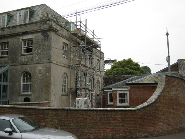 Maintenance works at Kingston Maurward House