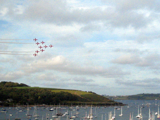 The Red Arrows over Falmouth Harbour