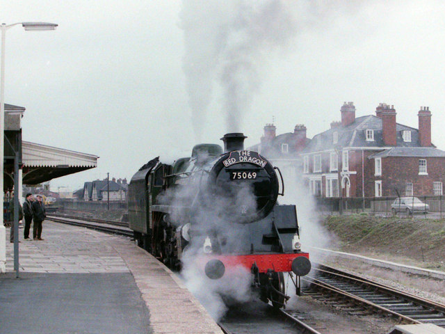 Steam Locomotive at Hereford, 1985