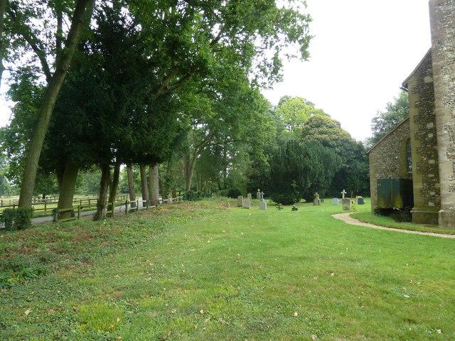 St Mary's Church, Herriard- churchyard (a)