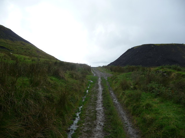 Path between the colliery spoil tips