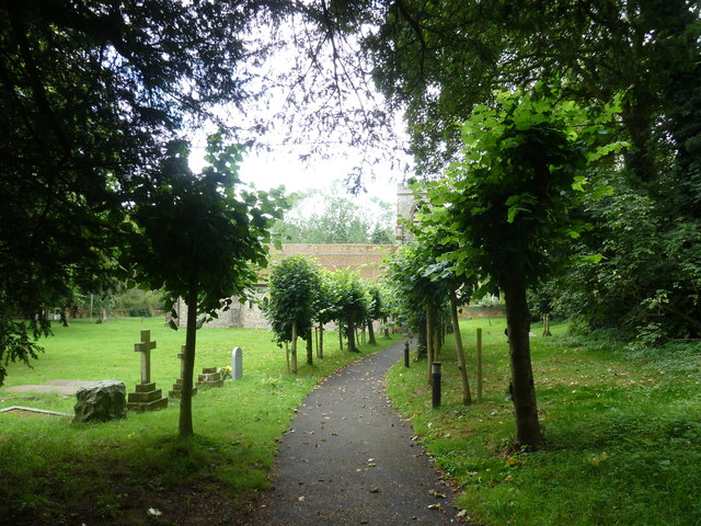 St Martin, Ellisfield: church path