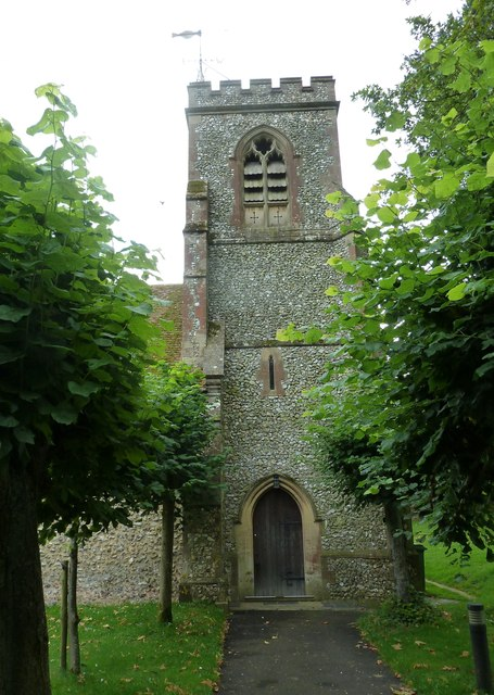 St Martin, Ellisfield: church tower